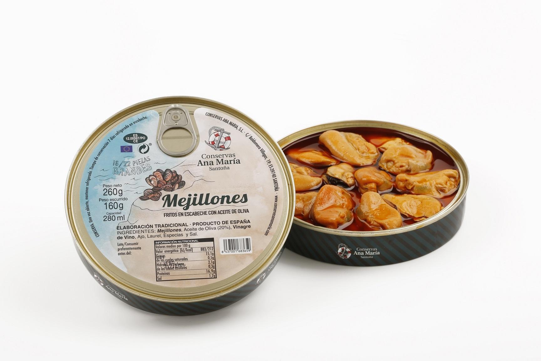 PA MEJILLONES EN ESCABECHE 280 ml.