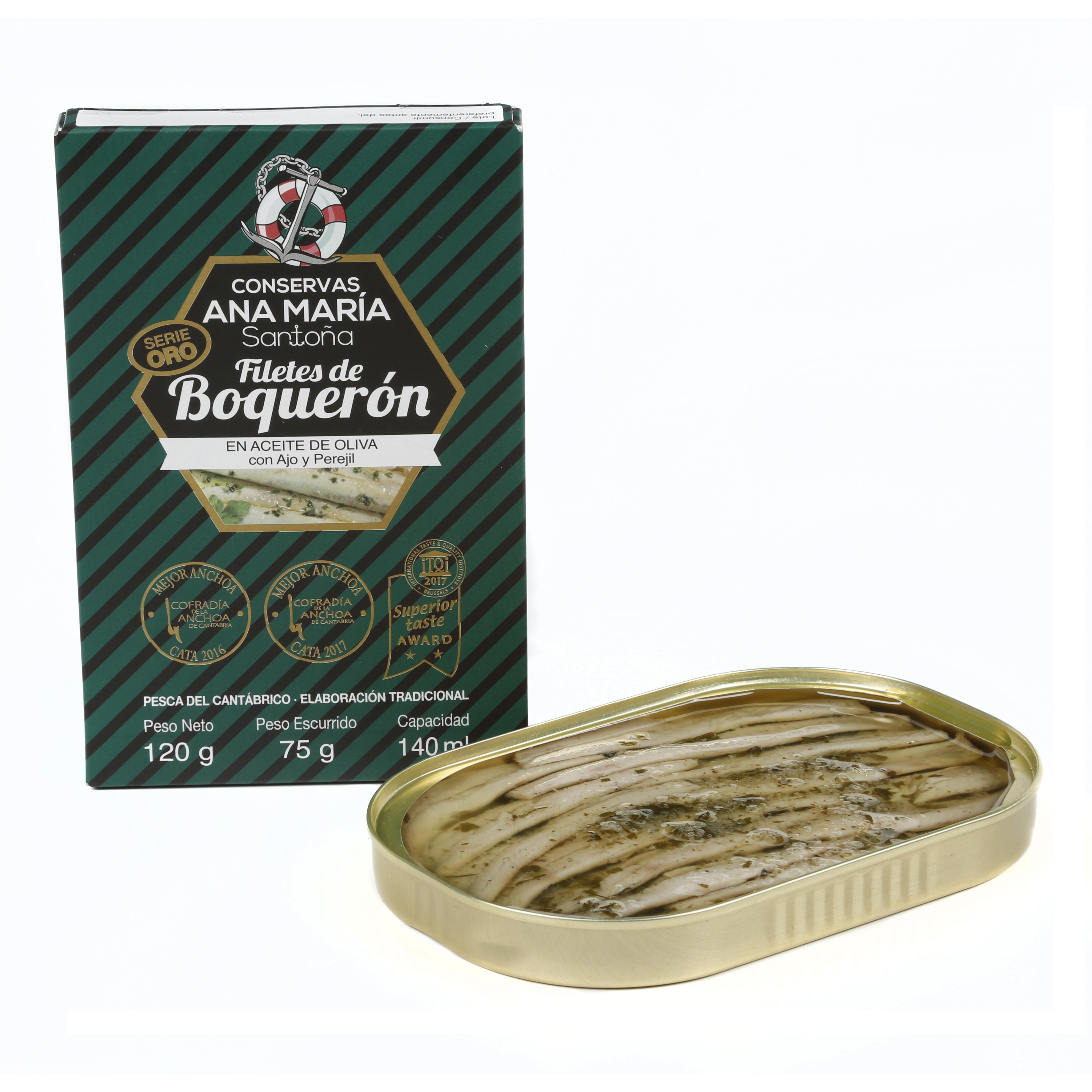 LATA BOQUERON CANT.A.OL 140 ml.