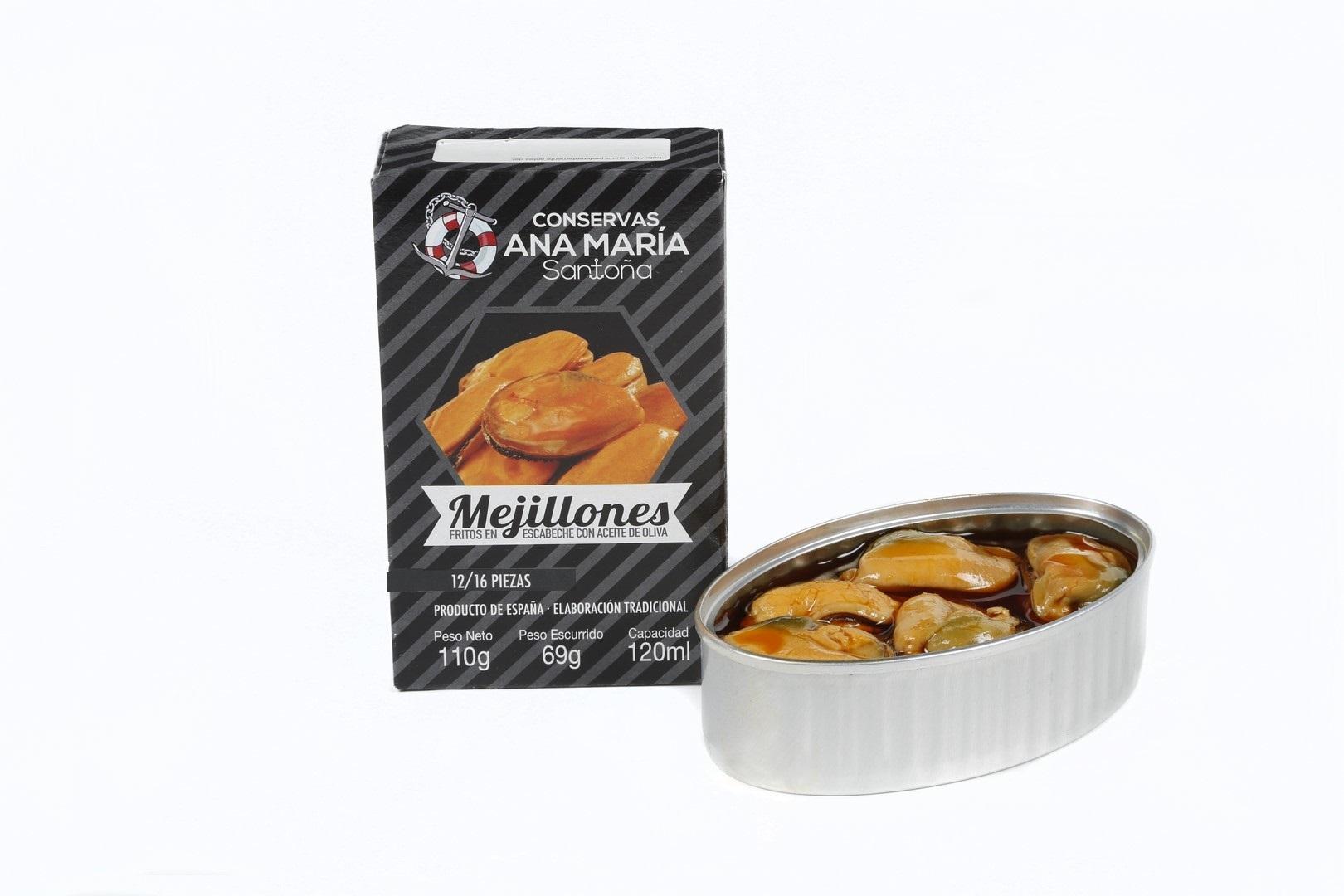 LATA MEJILLON FRITO ESC 12/16 120 ml